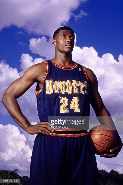 Antonio McDyess of the Denver Nuggets poses for a portrati during the 1996 season at the Pepsi Center in Denver Colorado NOTE TO USER User expressly...