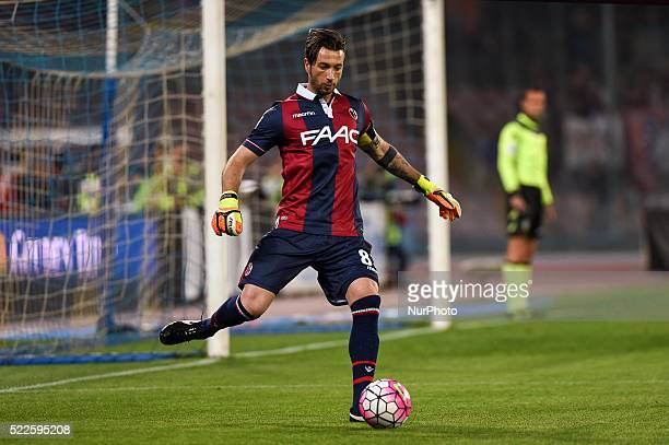 Antonio Mirante Bologna Fc goalkeeper during the italian Serie A football match between SSC Napoli and Bologna fc at San Paolo Stadium on Aprile 19...