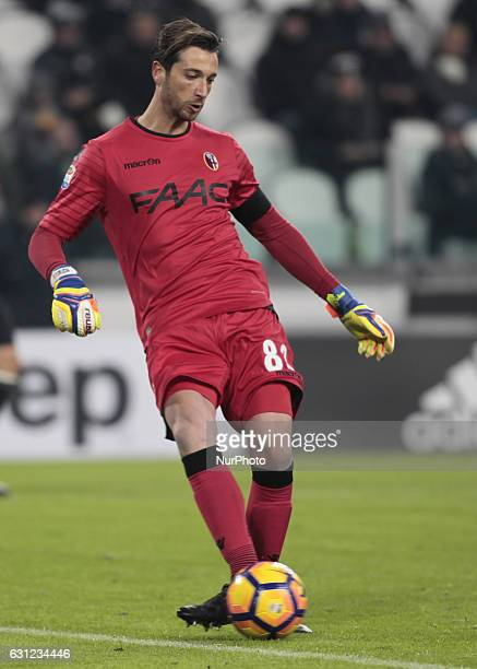Antonio Mirante during Serie A match between Juventus v Bologna in Turin on January 08 2017