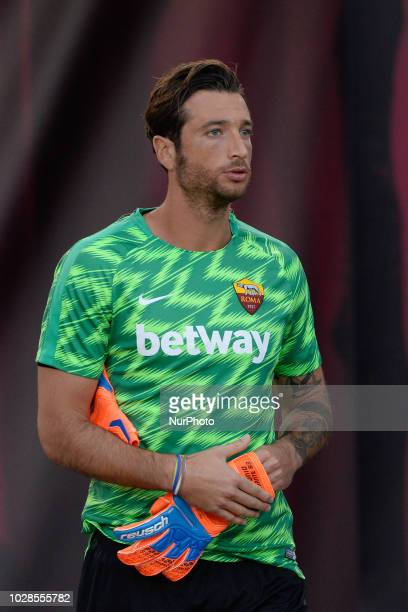 Antonio Mirante during the Italian Serie A football match between AS Roma and Atalanta at the Olympic Stadium in Rome on august 27 2018