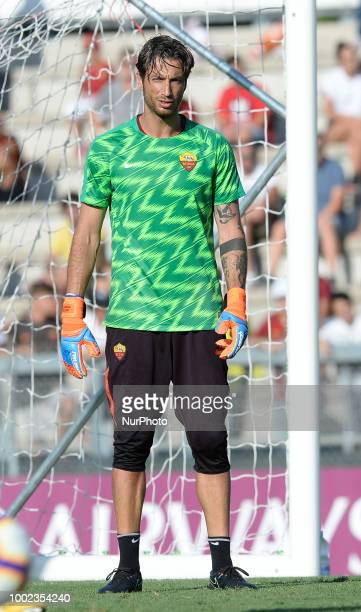 Antonio Mirante during training session open to the fans of AS Roma preseason retreat at Stadio Tre Fontane on july 19 2018 in Rome Italy