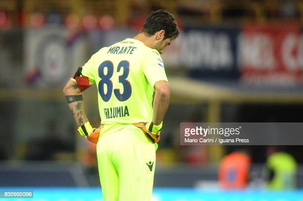 Antonio Mirante goalkeeper of Bologna FC looks dejected during the Serie A match between Bologna FC and Torino FC at Stadio Renato Dall'Ara on August...