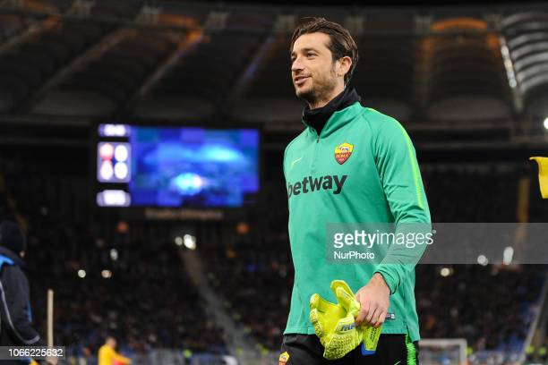 Antonio Mirante of AS Roma during the Champions league football match between AS Roma and Real Madrid at Olimpico stadium in Rome Italy on November...