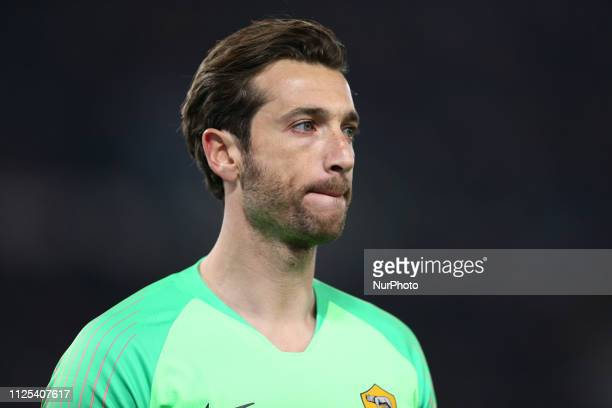 Antonio Mirante of AS Roma during the UEFA Champions League 2018/2019 match between AS Roma and FC Porto at Stadio Olimpico on February 12 2019 in...