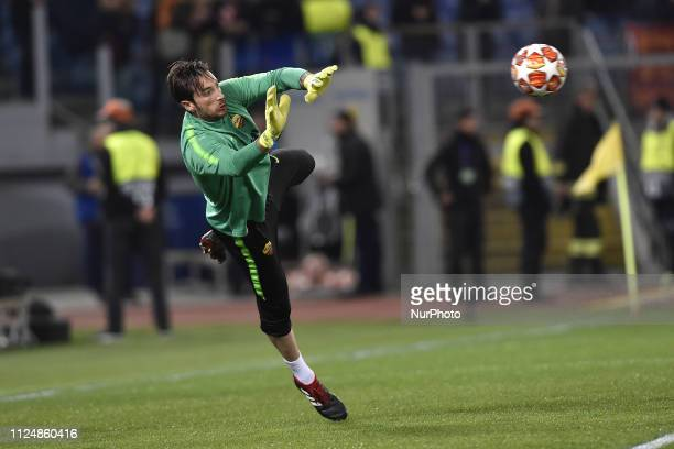 Antonio Mirante of AS Roma during the UEFA Champions League round of 16 match between AS Roma and FC Porto at Stadio Olimpico Rome Italy on 12...
