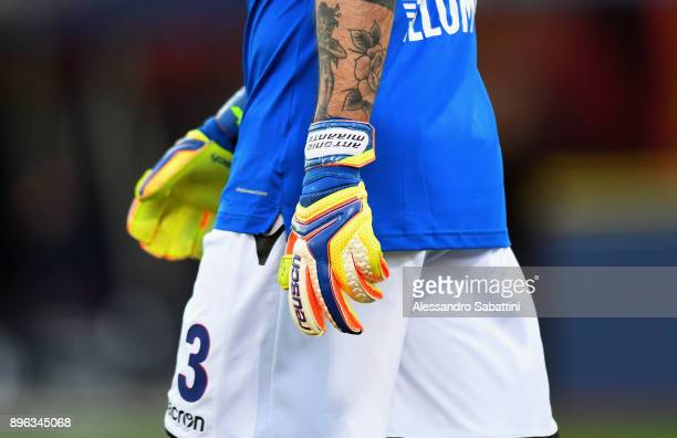 Antonio Mirante of Bologna FC during the Serie A match between Bologna FC and Juventus at Stadio Renato Dall'Ara on December 17 2017 in Bologna Italy