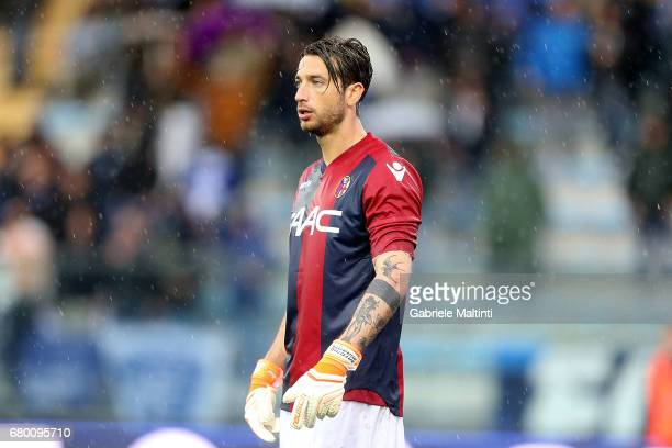 Antonio Mirante of Bologna FC looks on during the Serie A match between Empoli FC and Bologna FC at Stadio Carlo Castellani on May 7 2017 in Empoli...