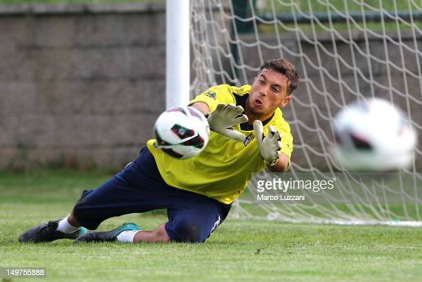 Antonio Mirante of FC Parma in action during the Parma FC Pre-Season Training Camp at SK Victoria Sterboholy on August 3, 2012 in Prague, Czech...