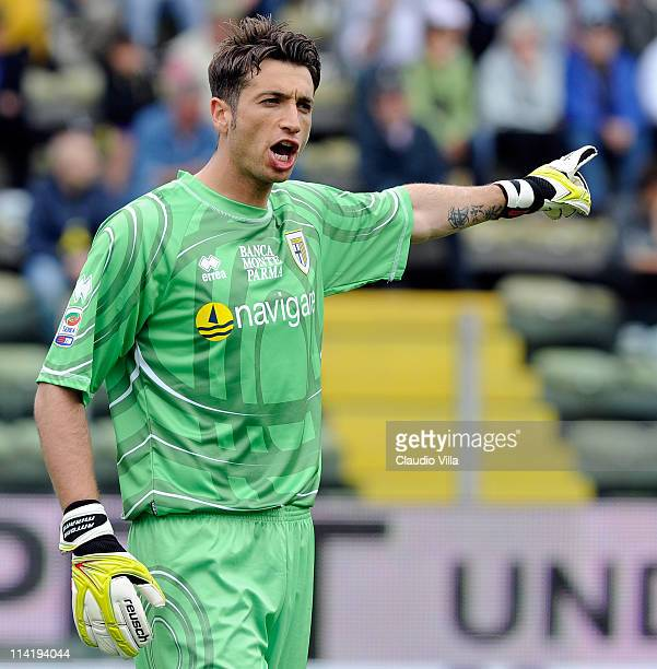 Antonio Mirante of Parma FC during the Serie A match between Parma FC and Juventus FC at Stadio Ennio Tardini on May 15 2011 in Parma Italy