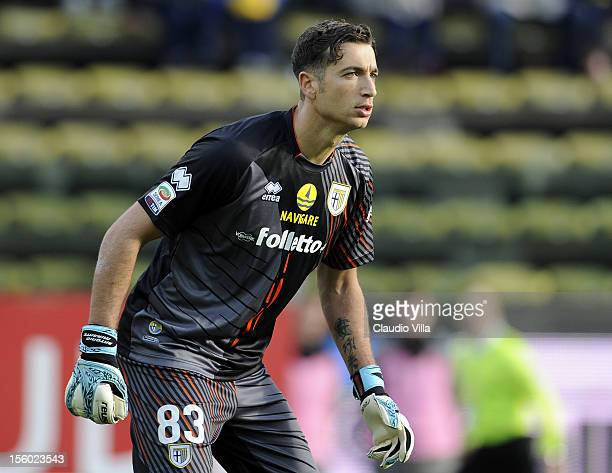 Antonio Mirante of Parma FC during the Serie A match between Parma FC and AC Siena at Stadio Ennio Tardini on November 11 2012 in Parma Italy