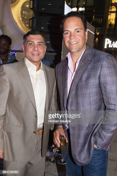 Antonio Misuraca and Mike Piazza attend the Haute Living Miami's Annual Haute 100 Dinner Presented By Hublot And Prestige Imports at Miami Design...