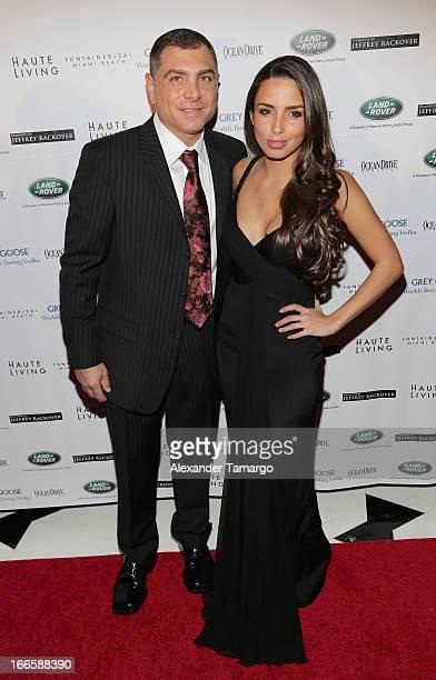 Antonio Misuraca and Valentina Sarria arrive at the Blacks' Annual Gala at Fontainebleau Miami Beach on April 13 2013 in Miami Beach Florida