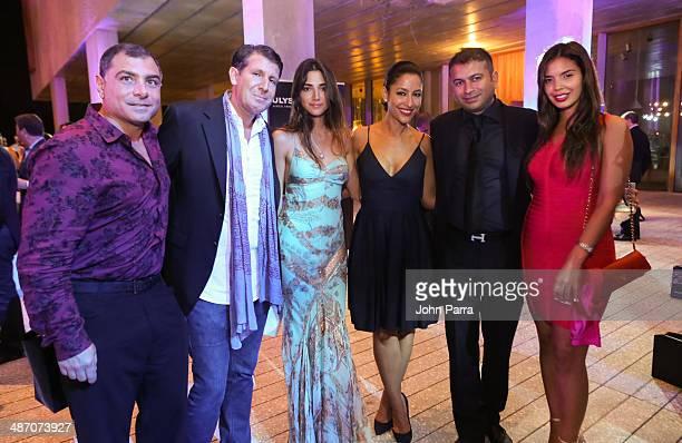 Antonio Misuraca Michael Capponi Violet Camacho Kamal Hotchandani and Carmen Aida attend the Haute Living Miami Haute 100 Dinner Presented By Dom...