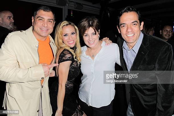 Antonio Misuraca Noelia Tracy Young and Jorge Reynoso attend Noelia Album Release Party at E11even Nightclub Miami on January 29 2015 in Miami Florida