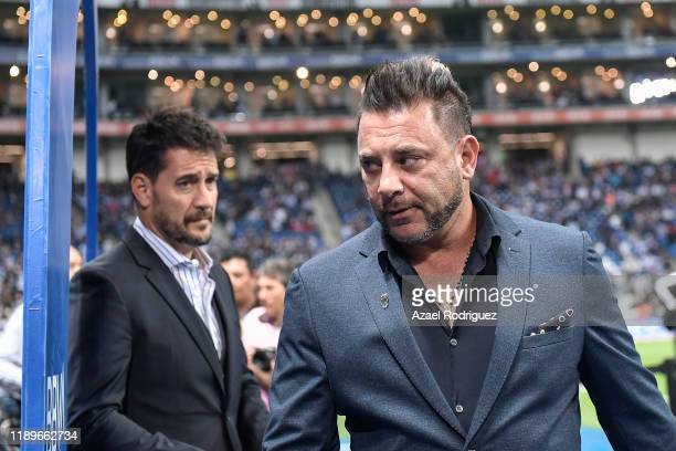 Antonio Mohamed coach of Monterrey gets in the field prior the 19th round match between Monterrey and Atlas as part of the Torneo Apertura 2019 Liga...