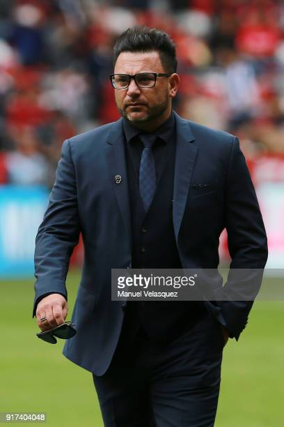 Antonio Mohamed coach of Monterrey looks on during the 6th round match between Toluca and Monterrey as part of the Torneo Clausura 2018 Liga MX at...