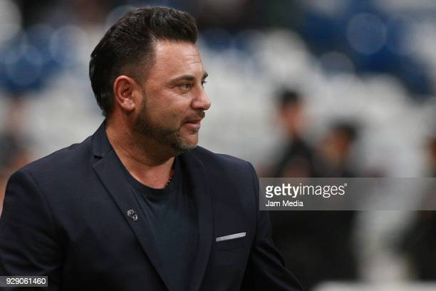 Antonio Mohamed coach of Monterrey looks on during the round of 16th between Monterrey and Queretaro as part of the Copa MX Clausura 2018 at BBVA...