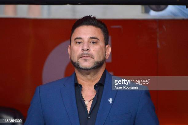 Antonio Mohamed coach of Monterrey looks on prior the 14th round match between Monterrey and Chivas as part of the Torneo Apertura 2019 Liga MX at...