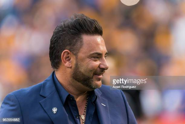 Antonio Mohamed coach of Monterrey looks on prior the 17th round match between Tigres UANL and Monterrey as part of the Torneo Clausura 2018 Liga MX...