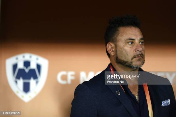 Antonio Mohamed Head Coach of CF Monterrey looks on prior to the FIFA Club World Cup 2nd round match between Monterrey and AlSadd Sports Club at...