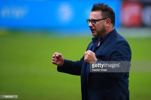 Antonio Mohamed head coach of Monterrey celebrates during the Final second leg match between America and Monterrey as part of the Torneo Apertura...