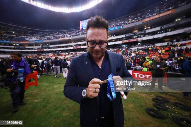 Antonio Mohamed head coach of Monterrey celebrates his team's championship after the Final second leg match between America and Monterrey as part of...