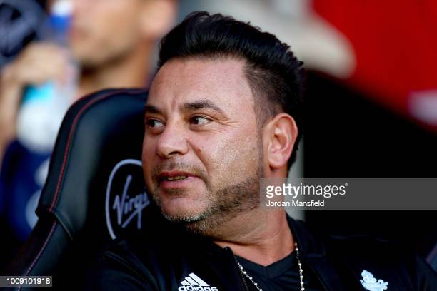 Antonio Mohamed manager of Celta Vigo looks on prior to the PreSeason Friendly match between Southampton and Celta Vigo at St Mary's Stadium on...