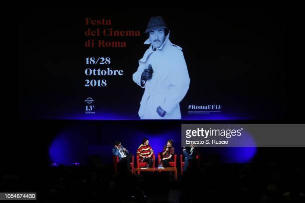 Antonio Monda Alice Rohrwacher and Alba Rohrwacher meet the audience during the 13th Rome Film Fest at Auditorium Parco Della Musica on October 28...