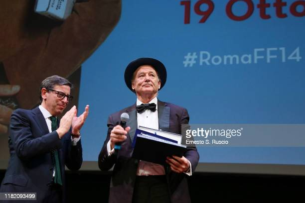 Antonio Monda and Bill Murray during the 14th Rome Film Festival on October 19 2019 in Rome Italy