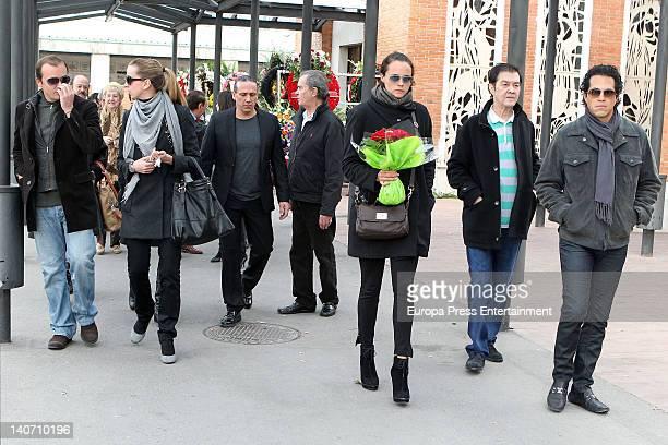 Antonio Morales Barbara Suances Luis Guerra Junior Morales Shaila Durcal Ricky Morales and Dorio Ferreira attend the funeral for Carmen Barretto...
