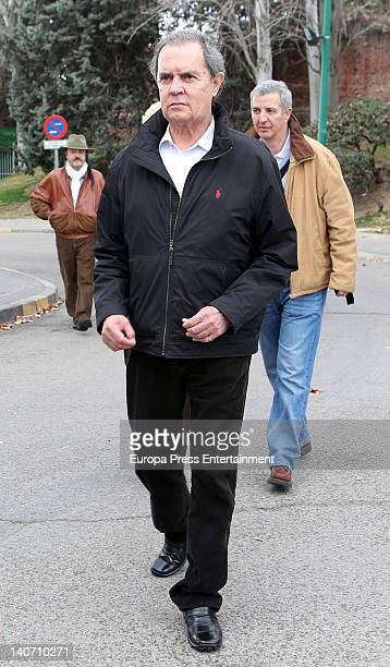 Antonio Morales Junior attends the funeral for Carmen Barretto Valdes who died at 97 years old at La Almudena Graveyard on March 4 2012 in Madrid...