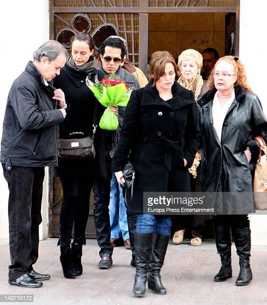 Antonio Morales Junior Shaila Durcal Dorio Ferreira Camen Morales and Fedra Llorente attend the funeral for Carmen Barretto Valdes who died at 97...
