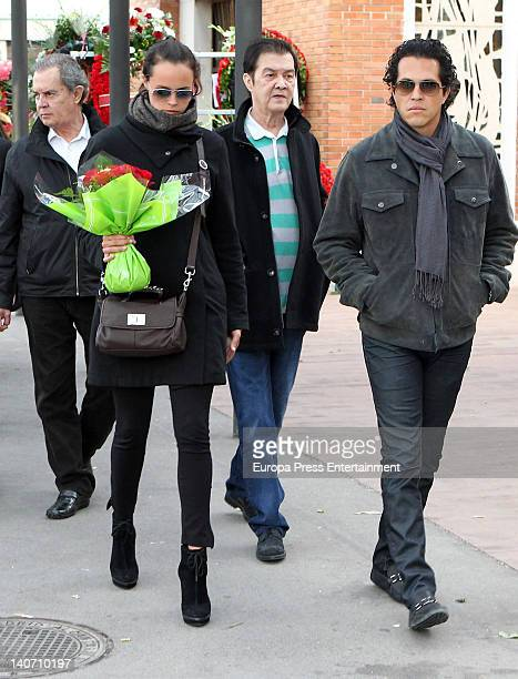 Antonio Morales Junior Shaila Durcal Ricky Morales and Dorio Ferreira attend the funeral for Carmen Barretto Valdes who died at 97 years old at La...