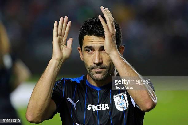 Antonio Naelson of Queretaro claps during the 13th round match between Queretaro and Toluca as part of the Clausura 2016 Liga MX at La Corregidora...