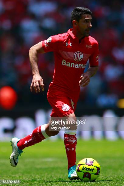 Antonio Naelson of Toluca drives the ball during the 16th round match between Toluca and Queretaro as part of the Torneo Clausura 2017 Liga MX at...