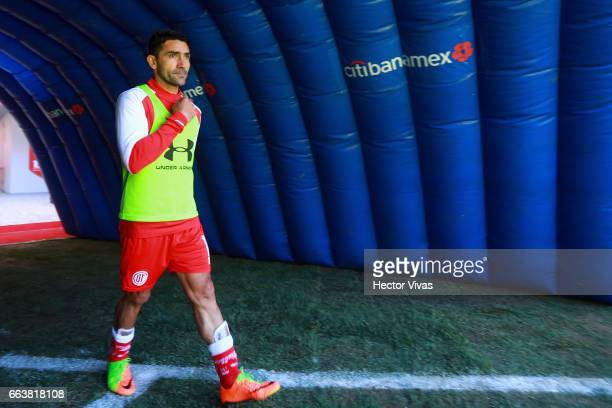 Antonio Naelson of Toluca enters to the field during the 12th round match between Toluca and Necaxa as part of the Torneo Clausura 2017 Liga MX at...