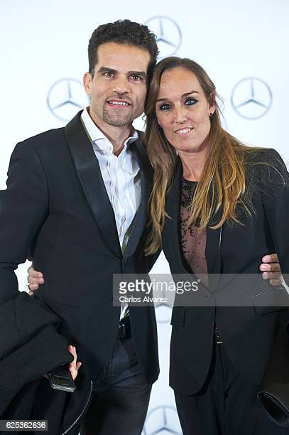 Antonio Najarro and actress Raquel Gomez attends 'Rotas' premiere at Palafox cinema on November 23 2016 in Madrid Spain
