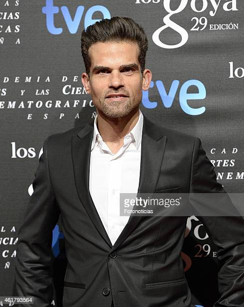 Antonio Najarro attends the 29th Goya Awards Nominated Party at the Canal Theater on January 19 2015 in Madrid Spain
