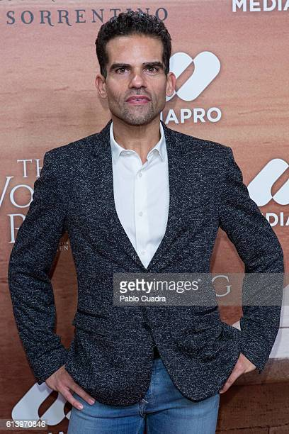 Antonio Najarro attends the 'The Young Pope' premiere at Palafox Cinema on October 11 2016 in Madrid Spain