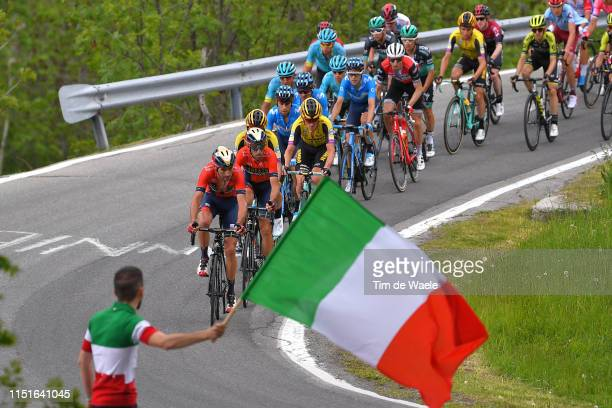 Antonio Nibali of Italy and Team Bahrain Merida / Vincenzo Nibali of Italy and Team Bahrain Merida / Mikel Landa Meana of Spain and Movistar Team /...
