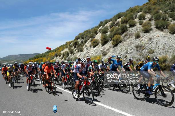 Antonio Nibali of Italy and Team Trek - Segafredo, Juan Jose Lobato Del Valle of Spain and Team Euskaltel - Euskadi, Nicola Conci of Italy and Team...