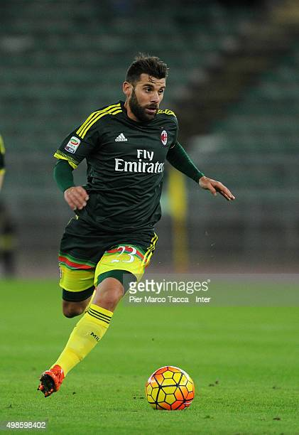Antonio Nocerino of AC Milan in action during a preseason tournament between FC Internazionale AC Milan and AS Bari at Stadio San Nicola on November...