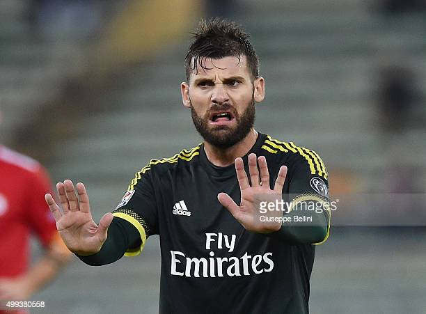 Antonio Nocerino of AC Milan in action during a tornemnt between FC Internazionale AC Milan and AS Bari at Stadio San Nicola on November 24 2015 in...