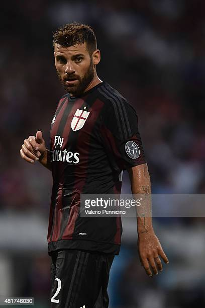Antonio Nocerino of AC Milan looks on during the preseason friendly match between Olympique Lyonnais and AC MIlan at Gerland Stadium on July 18 2015...