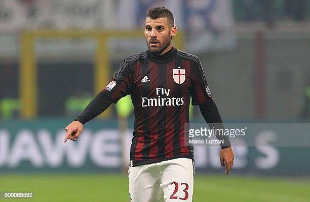 Antonio Nocerino of AC Milan looks on during the TIM Cup match between AC Milan and FC Crotone at Stadio Giuseppe Meazza on December 1 2015 in Milan...