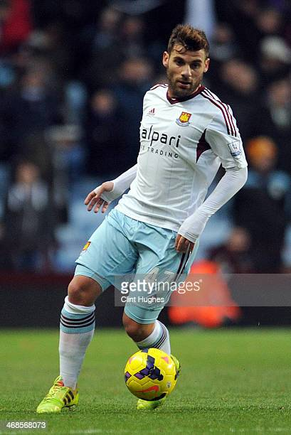 Antonio Nocerino of West Ham United during the Barclays Premier League match between Aston Villa and West Ham United at Villa Park on February 8 2014...