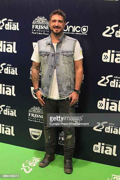 Antonio Orozco attends 'Cadena Dial' 25th Anniversary Concert in Madrid Photocall on September 3 2015 in Madrid Spain