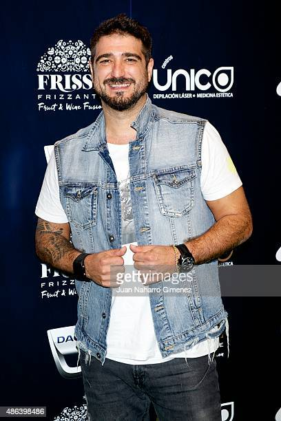 Antonio Orozco attends 'Cadena Dial' 25th Anniversary photocall at Barclaycard on September 3 2015 in Madrid Spain