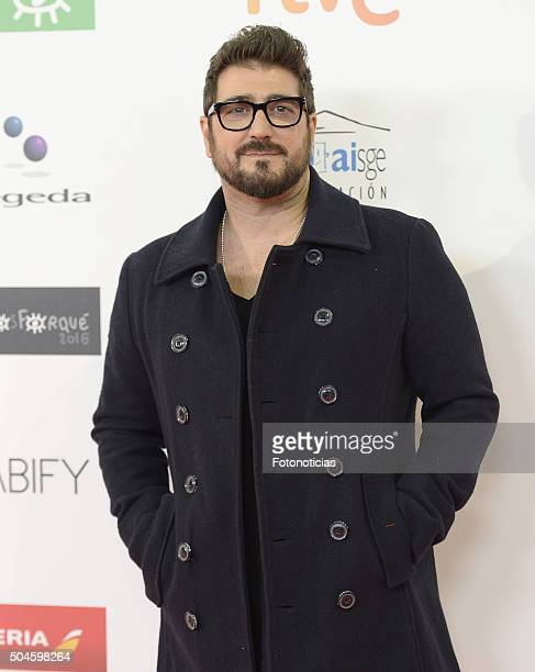 Antonio Orozco attends the Jose Maria Forque Awards at the Palacio de Congresos on January 11 2016 in Madrid Spain