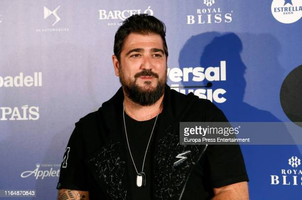 Antonio Orozco attends the photocall before his concert on July 27 2019 in Madrid Spain